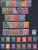 YUGOSLAVIA 1931-35 King Alexander Definitive And Mourning Sets , Used.  Michel 228-37 I & II, 241-42, 283-99 - 1931-1941 Kingdom Of Yugoslavia