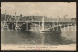 Postkaart / Postcard / 2 Scans / Liège / Exposition Universelle Et Internationale / 1905 / Pont De Fragnée - Luik