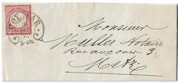 CACHET FER A CHEVAL COLMAR HAUT RHIN 1873 POUR METZ - Alsace-Lorraine