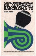 ETIQUETA     SALON INTERNACIONAL DEL AUTOMOVIL DE BARCELONA -70 - Publicidad