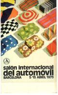 ETIQUETA     SALON INTERNACIONAL DEL AUTOMOVIL DE BARCELONA -1973 - Publicidad