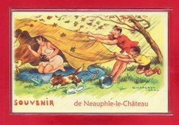 "78-CARTE POSTALE HUMOURISTIQUE "" NEAUPHLE LE CHATEAU "" - France"