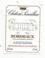 étiquette De Vin  , Bordeaux , Château SENAILHAC ,Tresses , Gironde ,1990 - Bordeaux