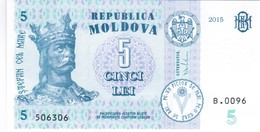 Moldova - Pick 21A - 5 Lei 2015 - Unc - Moldavia