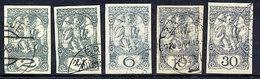 YUGOSLAVIA  (SHS) 1920 Slovenia Newspaper Stamps, Used.  Michel 113-117 U - 1919-1929 Kingdom Of Serbs, Croats And Slovenes