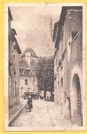 """Carte Postale En Noir & Blanc """" Rue Du Portail Saint-Denis Vers La Tour Henri IV """" à MORTAGNE - Mortagne Au Perche"""