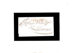 NAVIGAZIONE 1851 VPM In Ovale Rosso Su Lettera Completa Genova-Livorno - Italia