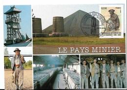 Hommage Aux Mineurs - Oblit 1er Jour - Courrières - 25.02.2006 Sur Timbre Y. 3880 - Marcophilie (Lettres)