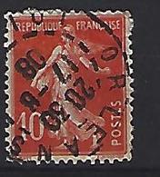 """France 1906  Semeuse (o) Yvert 135 /138 """"Cachet ORLEANS"""" - 1903-60 Sower - Ligned"""