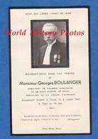 Faire Part De Décés De 1943 - DOUAI - Georges BOULANGER Président Chambre Honoraire Cour D'Appel - Médaille - Obituary Notices