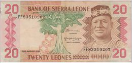 Billet - SIERRA  LEONE - 20 Leone Du 02 08 1984  Pick 14b - Sierra Leona