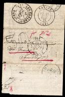 """France Superbe Ballon Monté """"Les Etats-Unis"""" 26/09/1870. Non Affranchi, Taxé 30 Cts. Rare! Certificat Roumet.  A Saisir! - 1870 Bordeaux Printing"""