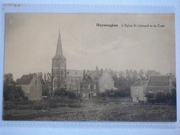HUIZINGEN L  église St.léonard Et La Cure - Belgique