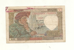 FRANCE BILLET DE 50 FRANCS - 1871-1952 Anciens Francs Circulés Au XXème