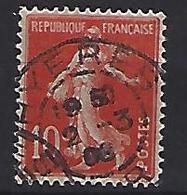 "France 1906  Semeuse (o) Yvert 135 /138 ""Cachet HYERES"" - 1903-60 Säerin, Untergrund Schraffiert"