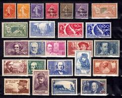 France Belle Collection D'anciens Neufs ** MNH Et Neufs * 1907/1940. Bonnes Valeurs, Gommes D'origine. B/TB. A Saisir! - France