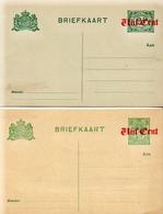 Netherlands 2 Mint Old Postal Stationery Cards - Postal Stationery