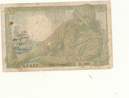 FRANCE BILLET DE 20 FRANCS - 1871-1952 Anciens Francs Circulés Au XXème