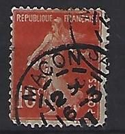 """France 1906  Semeuse (o) Yvert 135 /138 """"Cachet MACON"""" - 1903-60 Sower - Ligned"""