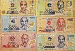 C) VIETNAM BANK NOTES 6 PC SET UNC ND 2014 - 2017 - Vietnam