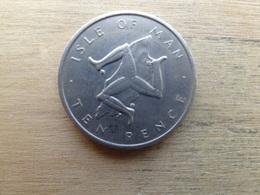 Ile De Man  10  Pence  1976  Km 36.1 - Regional Coins