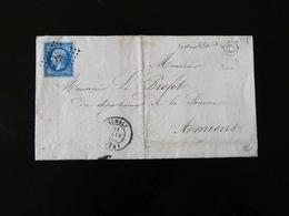BELLE LETTRE DE AUMALE POUR AMIENS A MR LE PREFET  -  1860  - AVEC TIMBRE IMPERIAL - - Storia Postale