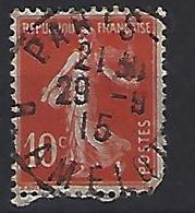"France 1906  Semeuse (o) Yvert 135 /138 ""Cachet PARIS-AMELOT"" - 1903-60 Sower - Ligned"