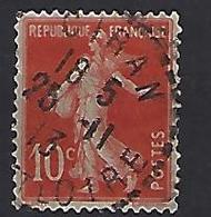 """France 1906  Semeuse (o) Yvert 135 /138 """"Cachet CIRAN"""" - 1903-60 Sower - Ligned"""