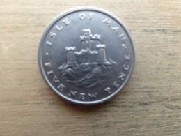 Ile De Man  5 New  Pence  1975  Km 22 - Regional Coins