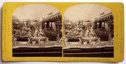 EXPOSITION UNIVERSELLE De 1867 - SURTOUT DE LA VILLE DE PARIS . ORFÈVRERIE FRANC - Photos Stéréoscopiques