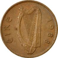 Monnaie, IRELAND REPUBLIC, Penny, 1988, TB+, Copper Plated Steel, KM:20a - Irlande