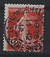 "France 1906  Semeuse (o) Yvert 135 /138 ""Cachet CHALON-SUR-SAONE"" - 1903-60 Sower - Ligned"