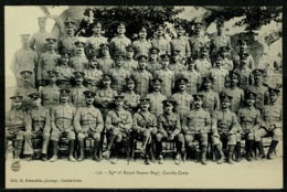 Ref 1233 - Military Postcard Crete Greece - British Troops - 2nd Sussex Regiment Sergeants - Greece