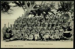 Ref 1233 - Military Postcard - Crete Greece - British Troops - 2nd Sussex Regiment Band - Greece