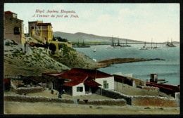 Ref 1233 - Early Postcard - A L'entour Du Port Du Piree Greece - Naval Warships - Greece