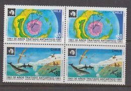 Chile 1991 Antarctic Treaty 2v Se Tenant (pair) ** Mnh (40979E) - Chili
