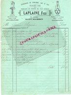 79- SAINT MAIXENT L' ECOLE- RARE FACTURE LAPLAINE FILS- ENTREPRISE ZINGUERIE GAZ EAU-FABRIQUE POMPES-RUE TAUPINEAU -1885 - France