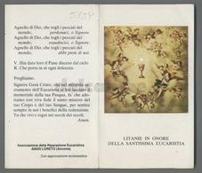 ES5159 SS. Sacramento COMUNIONE LITANIE IN ONORE DELLA EUCARESTIA APRIBILE LORETO Santino - Religione & Esoterismo
