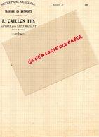 79- SAINT MAIXENT L' ECOLE- SAIVRES- RARE FACTURE 1900 F. CAILLON FILS- ENTREPRISE TRAVAUX PUBLICS- - France