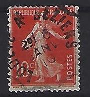 France 1906  Semeuse (o) Yvert 135 /138 - 1903-60 Sower - Ligned