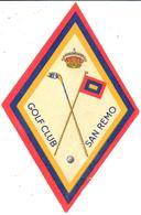 ETIQUETA     GOLF CLUB -SAN REMO - Publicidad