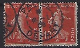 """France 1906  Semeuse (o) Yvert 135 /138 """"Cachet PARIS DEPART"""" - 1903-60 Sower - Ligned"""