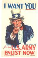ETIQUETA     FOR THE U.S.ARMY ENLIST NOW (PARA EL EJERCITO DE LOS EEUU ENLISTATE AHORA) - Publicidad