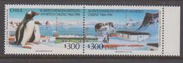 Chile 1994 Antarctica 2v Se Tenant ** Mnh (40979G) - Postzegels