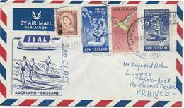 LETTRE PAR AVION POUR LA FRANCE1960 AVEC 4 TIMBRES - Cartas