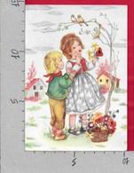 CARTOLINA NV ITALIA - Bambini Con Fiori E Uccellini - Bimbi - 35 - 10 X 15 - Enfants