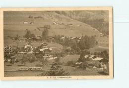 Château D' Oex - Passage Du Train Dans La Vallée - Micheline - Animée -  Vue Différente - 2 Scans - VD Vaud