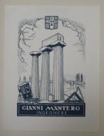 Ex-libris Illustré XXème - Italie - Construction - GIANNI MANTERO - Ex-libris