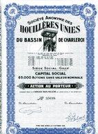 HOUILLÈRES UNIES Du BASSIN De CHARLEROI - Mines