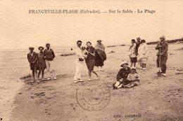 1044 -  Cpa 14 Franceville Plage - Sur Le Sable, La Plage - France
